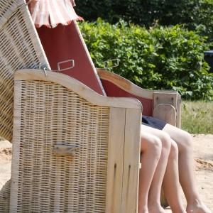 Strandkorb mit 2 Personen